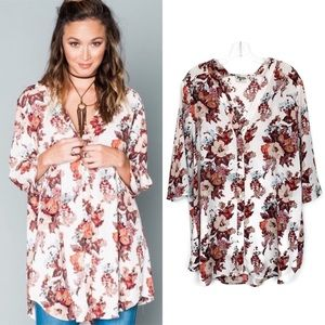Show Me Your Mumu Downtown Floral Tunic Top